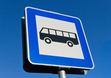 Bus stop sign. Stock Images