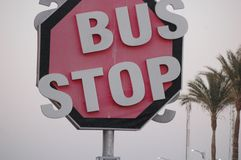Egypt Bus stop sign royalty free stock images