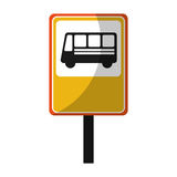 Bus stop sign isolated icon Royalty Free Stock Image
