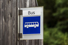 Bus stop sign Luxembourg Royalty Free Stock Photos