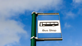 Bus stop sign Stock Photography