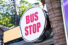Bus Stop Sign Royalty Free Stock Photo