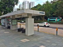 Bus stop -Singapore city Stock Images