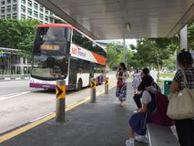 Bus stop in Singapore Royalty Free Stock Photo