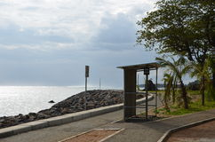 Bus stop 2. Bus stop in the southern part of Mauritius Royalty Free Stock Photography
