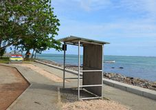 Bus stop 3. Bus stop in the southern part of Mauritius Royalty Free Stock Images