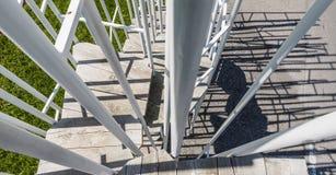 Bus Stop Stairs Shadow Krumbach Fuijmoto. Krumbach, Austria - July 22, 2017: Busstop by architect Sou Fuijmoto in Krumbach, Bregenzer Wald, Austria Stock Photography