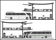 Bus stop station. Drawing of Bus stop station  illustration Royalty Free Stock Image