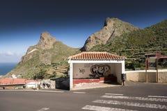 Bus stop at Taganana Tenerife Royalty Free Stock Photos