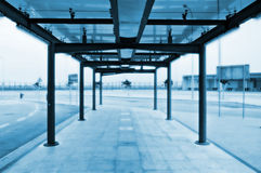 Bus stop terminal Stock Images