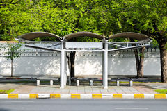Bus Stop Thailand. Bus Stop among alot of trees in Thailand Royalty Free Stock Image