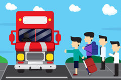 Bus stop and travel cartoon design Royalty Free Stock Image