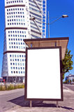 Bus stop at turning torso 01 Royalty Free Stock Photos
