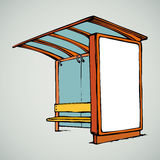 Bus stop. Vector drawing Royalty Free Stock Image