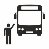 Bus stop. Vector icon isolated on white background royalty free illustration
