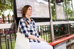 Bus stop Royalty Free Stock Photos