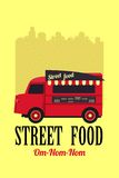 Bus with street food Royalty Free Stock Photos