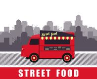 Bus with street food Stock Photo