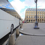 Bus on the street of Paris Royalty Free Stock Images