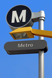 Bus-Subway station sign Stock Image