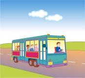 Bus sul modo Immagini Stock