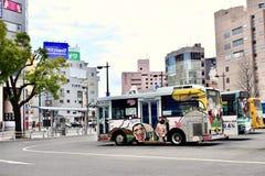 Bus sveglio nel Giappone Kagoshima immagine stock