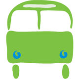 Bus symbol. Transportation symbol bus Stock Illustration