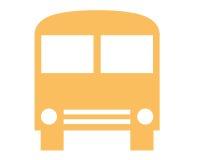 Bus symbol. Closeup of bus symbol on white background Royalty Free Stock Photos