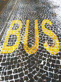 Bus symbol Royalty Free Stock Photo