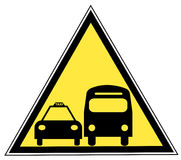 Bus and taxi sign Royalty Free Stock Photo