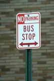 bus teckenstoppet Royaltyfria Bilder