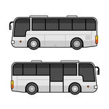 Bus Template Set on White Background. Vector Stock Photos