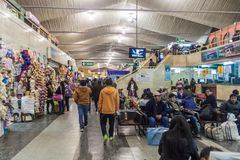 Bus terminal in Arequipa. AREQUIPA, PERU - MAY 30, 2015: Interior of a bus terminal in Arequipa, Peru royalty free stock image