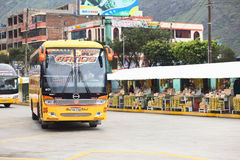 Bus Terminal in Banos, Ecuador Stock Photo