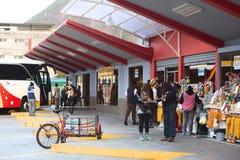 Bus Terminal in Banos, Ecuador Stock Image