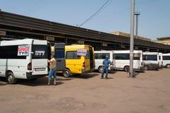 Bus Terminal West in Bishkek royalty free stock photo