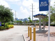 Bus terminus, train station, FL Stock Image