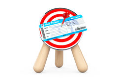 Bus Ticket in Center of Archery Target Royalty Free Stock Photos