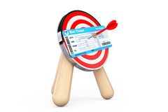 Bus Ticket in Center of Archery Target Stock Image