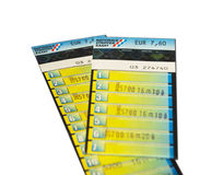 Bus ticket the Netherlands Stock Image
