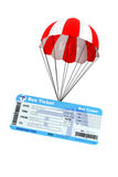 Bus Ticket with Parachute Stock Images