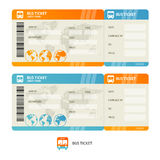 Bus ticket. Vector. Bus ticket  on white background.  Design Template. Vector illustration Stock Photography
