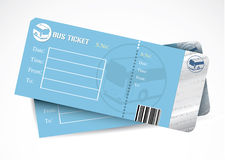 Bus tickets. Vector illustration of bus tickets Royalty Free Stock Images