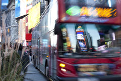 Bus on Times Square NYC Royalty Free Stock Image