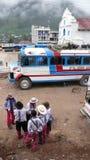 Bus, Todos Santos Cuchumatan, Guatemala Stock Photography