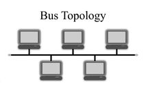 Bus Topology Diagram. An image of network bus topology diagram Royalty Free Stock Photos