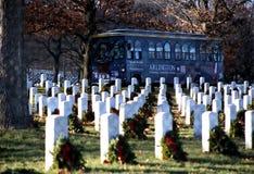 Bus tour. Arlington cemetery bus tour Stock Photo