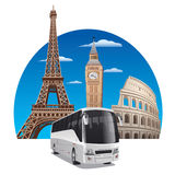 Bus tour Royalty Free Stock Images