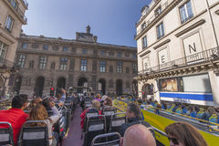 On the bus tour in Paris Royalty Free Stock Photo