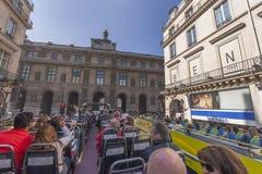 On the bus tour in Paris Royalty Free Stock Photo